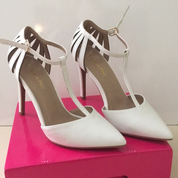 2a321b61ff88 Dream Pairs Women s White Pointed Toe Heels
